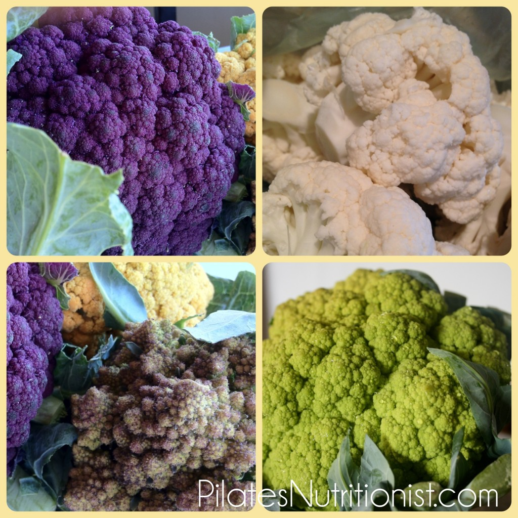 Look at all these beautiful varieties of cauliflower!