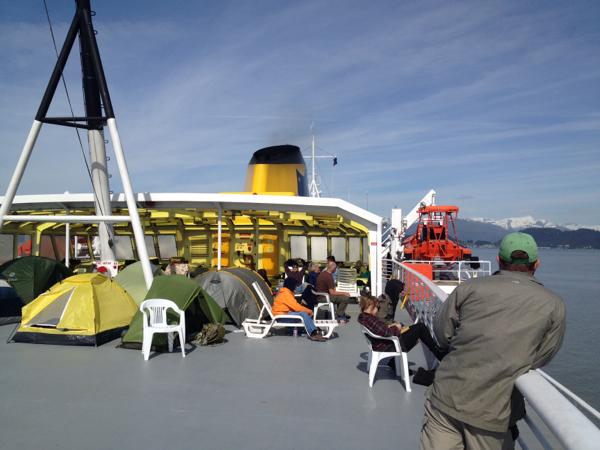Alaska ferry camping