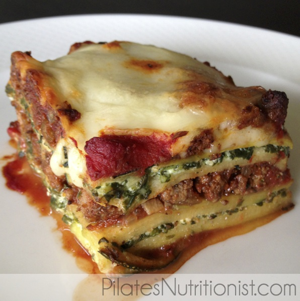 low carb lasagne slice