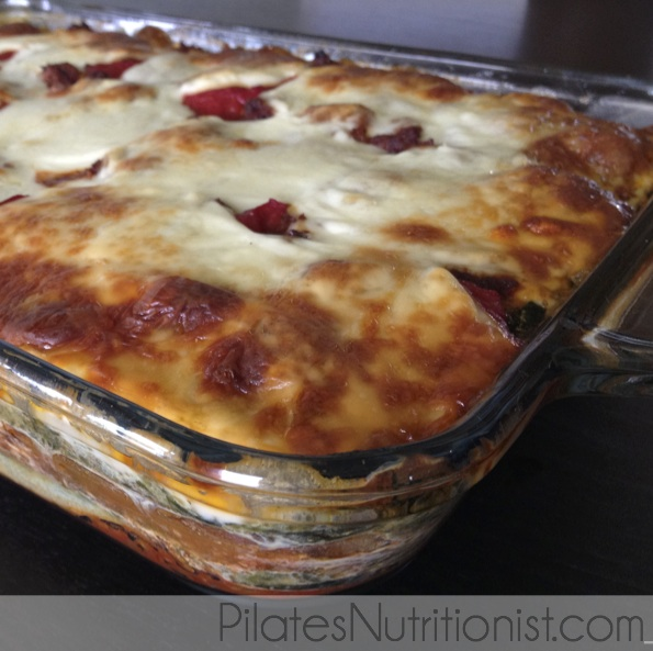 pan of low carb lasagne