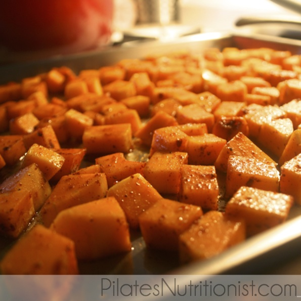 Roasted Butternut Squash with Lime and Chili