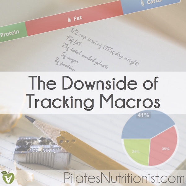 The Downside of Tracking Macronutrients