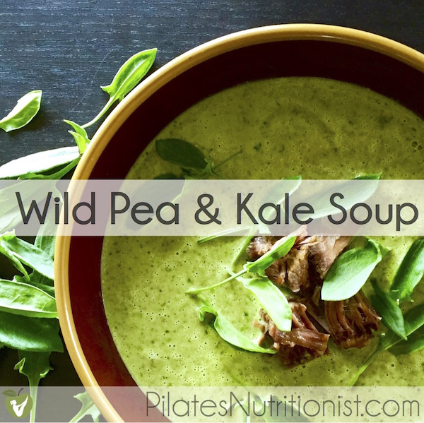 Wild Pea and Kale Soup - a 4-ingredient recipe using wild Alaskan beach peas