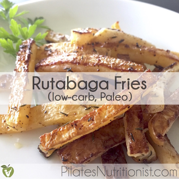 Rutabaga Fries - half the carbs of regular [potato] fries. Give this low-carb, Paleo recipe a try!