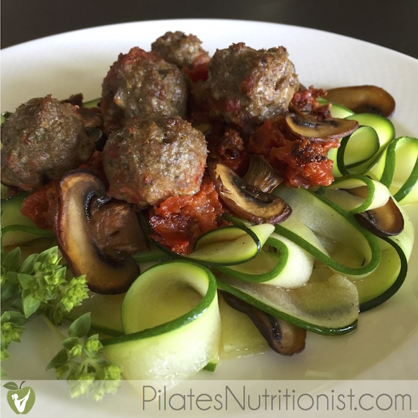 Grass-fed Beef Meatballs with Liver and Zucchini Noodles