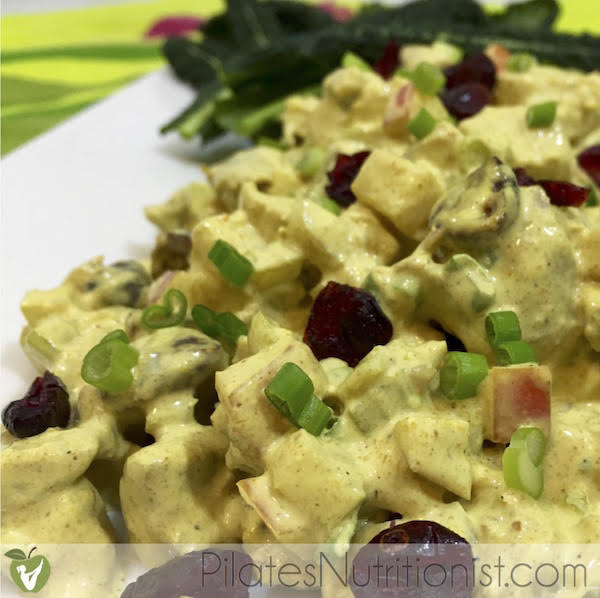 Curried Chicken Salad with Cranberries Homemade Mayo