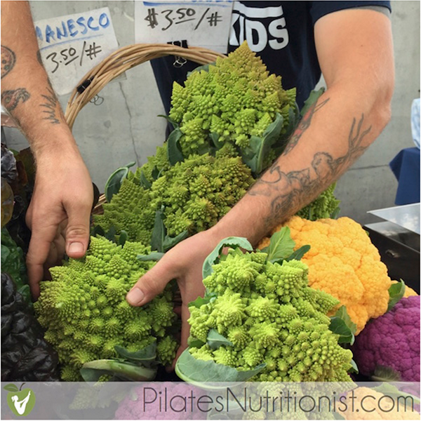 Garlicky Roasted Romanesco - farmers' market romanesco