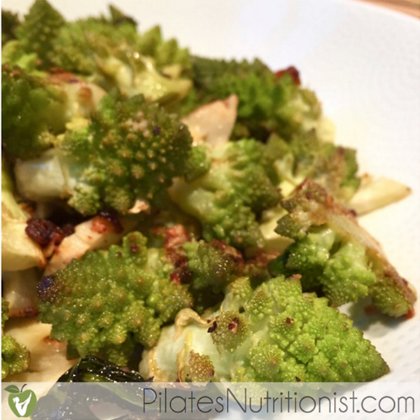 Garlicky Roasted Romanesco