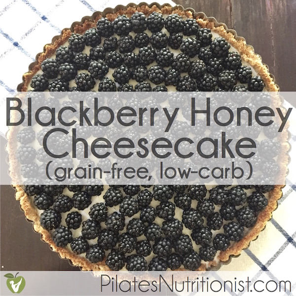 Blackberry Honey Cheesecake (low carb)