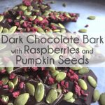 Dark Chocolate Bark with Raspberries and Pumpkin Seeds thumbnail